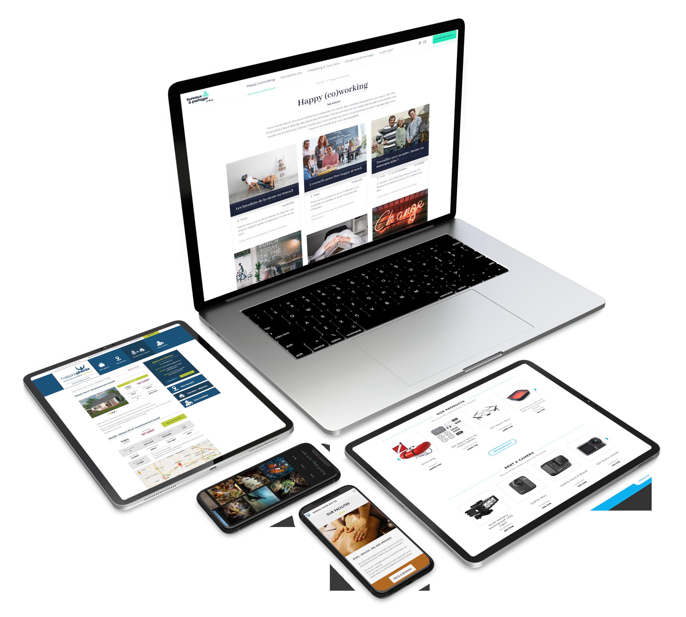 Conception et réalisation de site internet Mathias Diawara